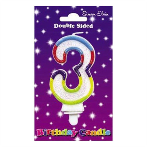 Wax Number Candle - 3 - The Ultimate Balloon & Party Shop