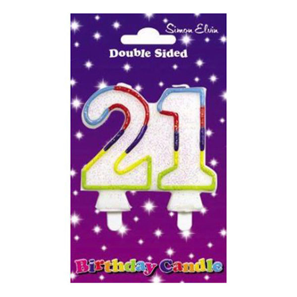 Wax Number Candle - 21 - The Ultimate Balloon & Party Shop