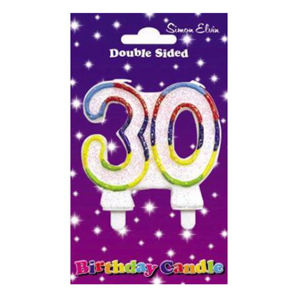 Wax Number Candle - 30 - The Ultimate Party Shop