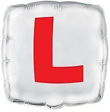 "18"" Foil L Plate Red/White Balloon"