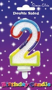 Wax Number Candle - 2 - The Ultimate Party Shop