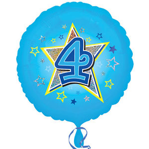 "18"" Foil Age 4 Blue Balloon. - The Ultimate Party Shop"