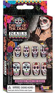 Day Of The Dead - Nails - The Ultimate Party Shop