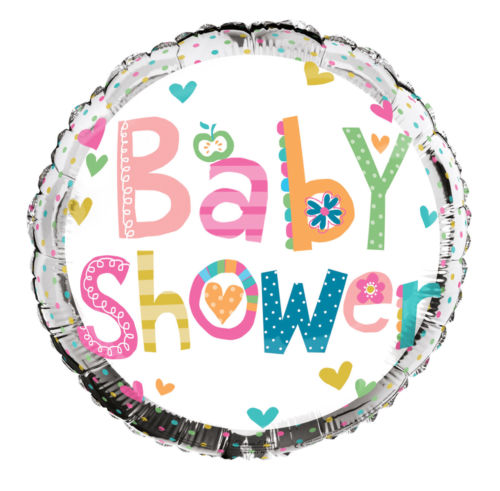 "18"" Foil Baby Shower Round Balloon"
