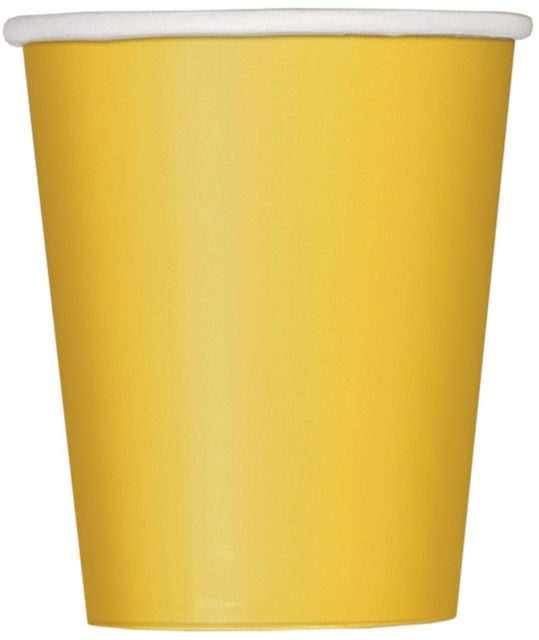 Paper Cups - Yellow - The Ultimate Party Shop