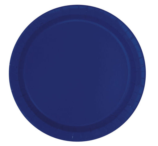Round Paper Plates - Dark Blue - The Ultimate Party Shop