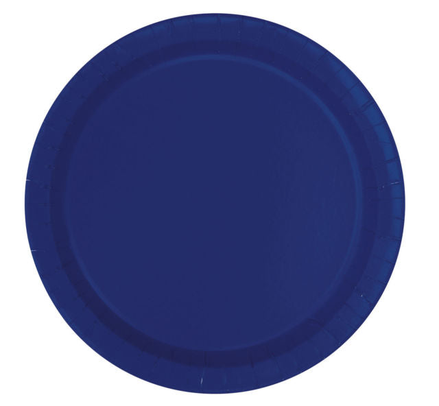 Round Paper Plates - Dark Blue - The Ultimate Balloon & Party Shop
