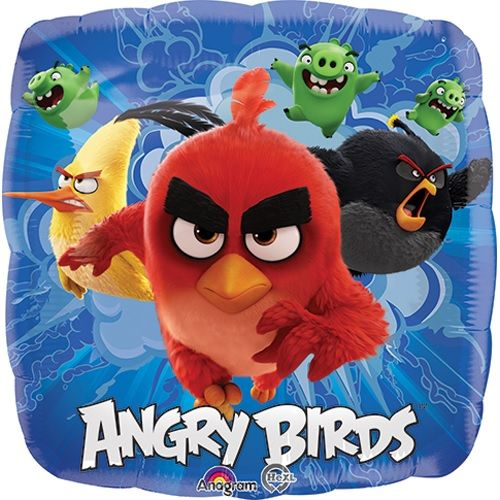 "18"" Foil Angry Birds Printed Balloon - The Ultimate Party Shop"