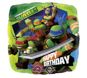 "18"" Foil TMNT Printed Balloon - The Ultimate Party Shop"