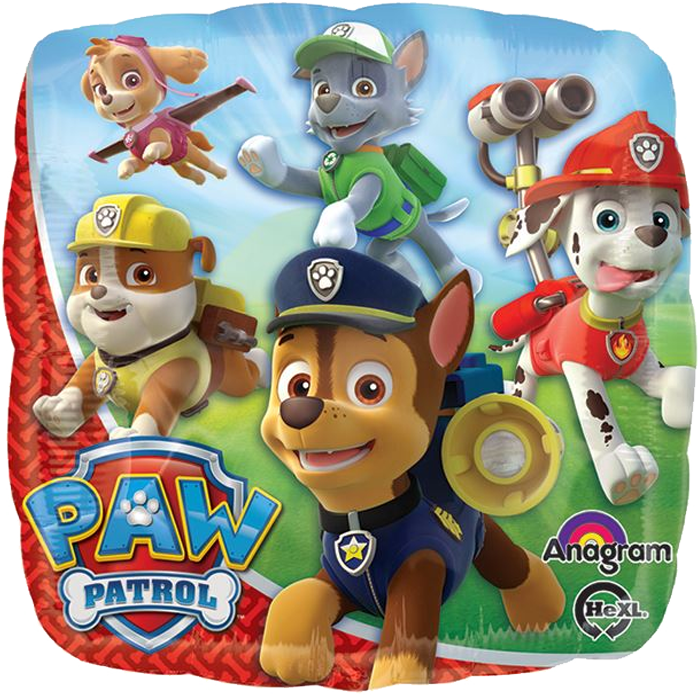 "18"" Foil Paw Patrol Printed Balloon - The Ultimate Balloon & Party Shop"