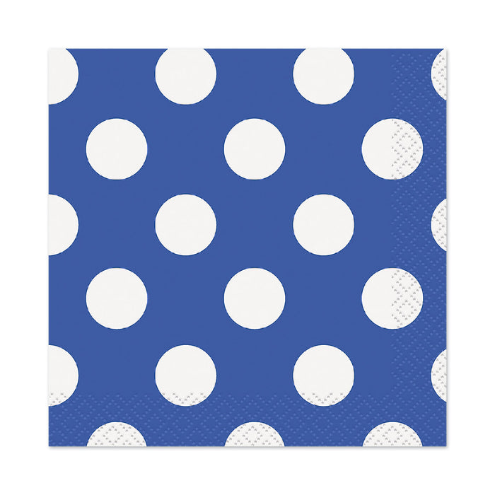 Polka Dot Blue Napkins - The Ultimate Party Shop