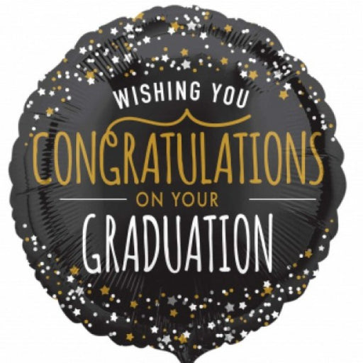 "18"" Foil Congrats Grad Round Balloon - The Ultimate Party Shop"