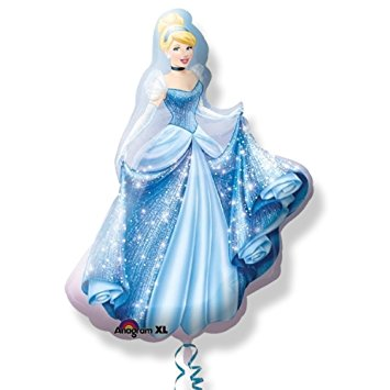 "33"" Foil Cinderella Disney Large Printed Balloon - The Ultimate Balloon & Party Shop"