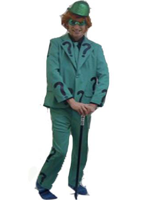 Green Bat Villain Hire Costume - The Ultimate Party Shop