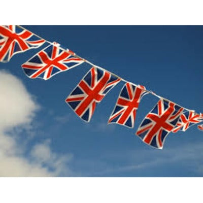 Union Jack Rectangle Flag Bunting 7m 25 Flags - The Ultimate Party Shop
