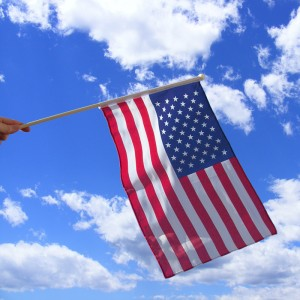 "Material Waving Flag - USA 9"" x 6"" - The Ultimate Party Shop"