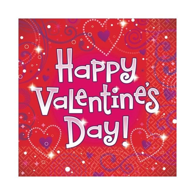 Valentine's Day Napkins - 36 Pack - The Ultimate Balloon & Party Shop