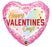 Valentines Heart Shaped Foil Balloon - Pink - The Ultimate Balloon & Party Shop