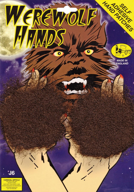 Werewolf Hand Patches (Brown) - The Ultimate Party Shop