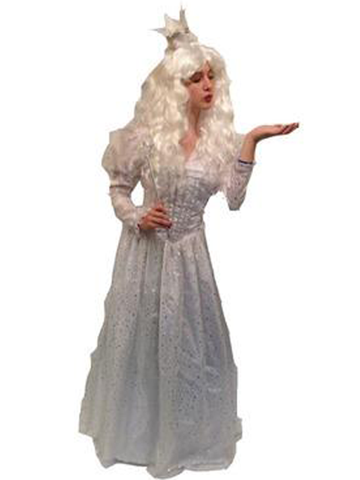 The White Queen from Tim Burtons Film Hire Costume - The Ultimate Party Shop