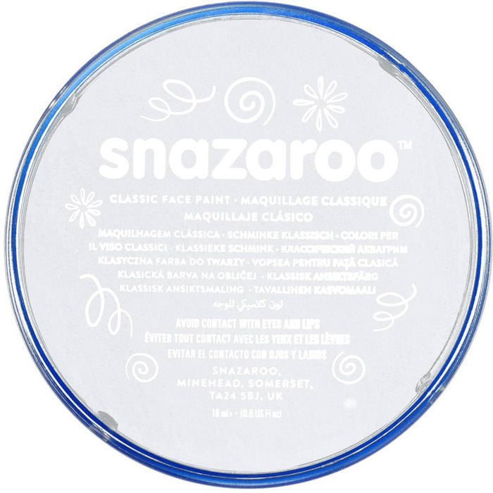 Snazaroo Face Paint - White - The Ultimate Balloon & Party Shop