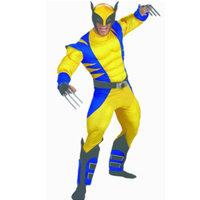 Claw Yellow Superhero Hire Costume - Muscle Version - The Ultimate Party Shop