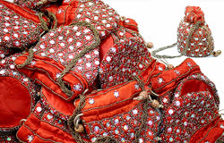 200 Rich beaded Potli bags as a return gift favour for Reception