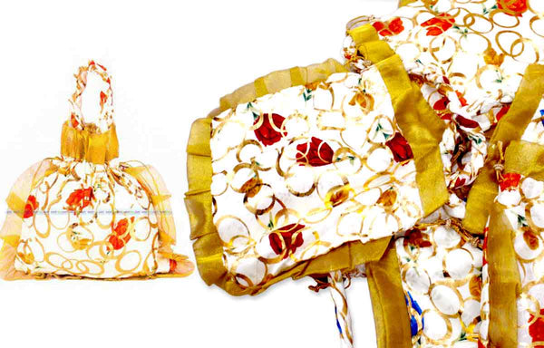 Potli Bag with Frill - 25 Nos. for Wedding