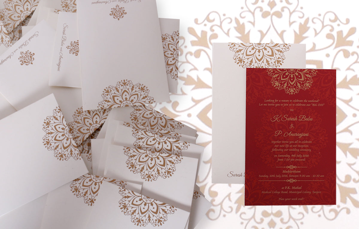 150 Simple and Elegant Wedding Invitations by Abirami R