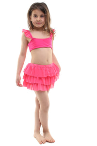 Gonnellino bambina in tulle fucsia