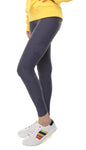 Leggings in lycra grigi con stelle applicate grigie