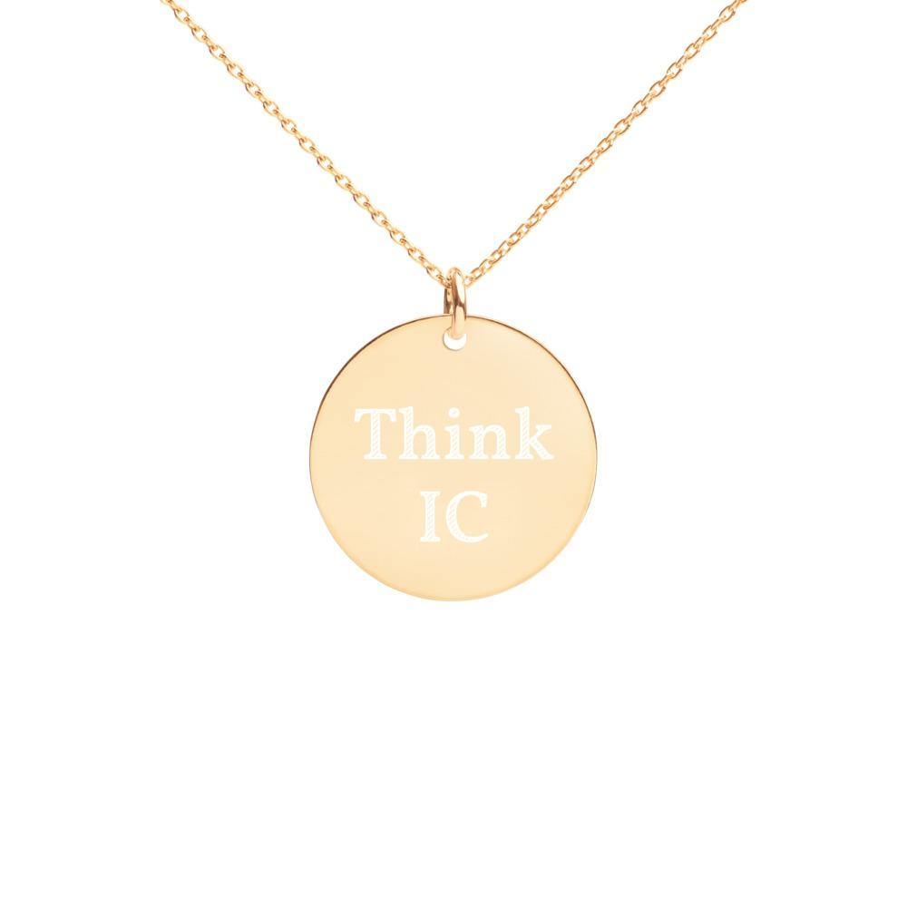 Luxury IC- Style Engraved Gold Disc Necklace- [instyle]