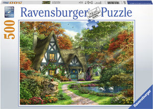 Load image into Gallery viewer, RAVENSBURGER COTTAGE IN AUTUMN PUZZLE