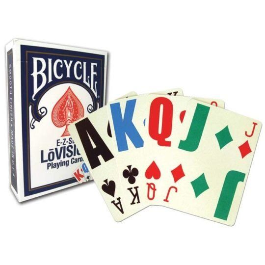 BICYCLE E-Z-SEE LOVISION PLAYING CARDS