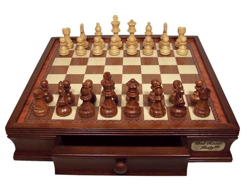 "DAL ROSSI CHESS SET 16"" 85MM CHESSMAN"