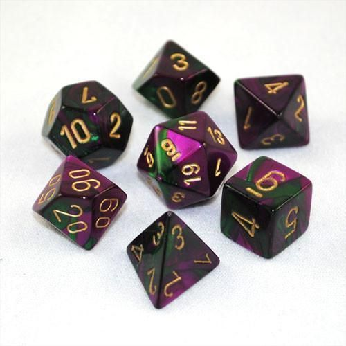 CHX Gemini Green-Purple/Gold 7-Die Set