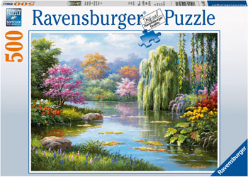 RAVENSBURGER POND WITH A VIEW PUZZLE