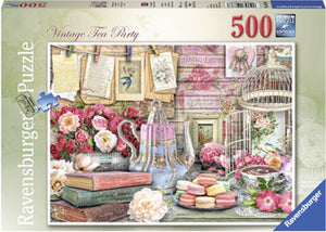 Load image into Gallery viewer, RAVENSBURGER VINTAGE TEA PARTY PUZZLE