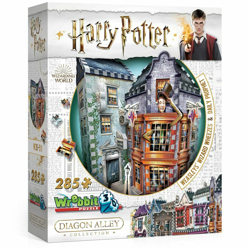 3D HARRY POTTER PUZZLE: WEASLEY'S WHEEZES & DAILY PROPHET
