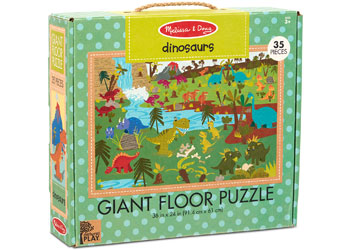 Load image into Gallery viewer, GIANT FLOOR PUZZLE - DINOSAURS