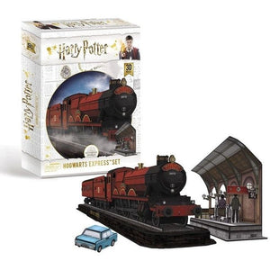 3D HARRY POTTER HOGWARTS EXPRESS SET