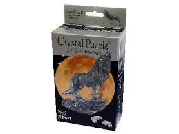 3D CRYSTAL PUZZLE: WOLF