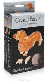 3D CRYSTAL PUZZLE: DACHSHUND