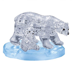 3D CRYSTAL PUZZLE: POLAR BEARS