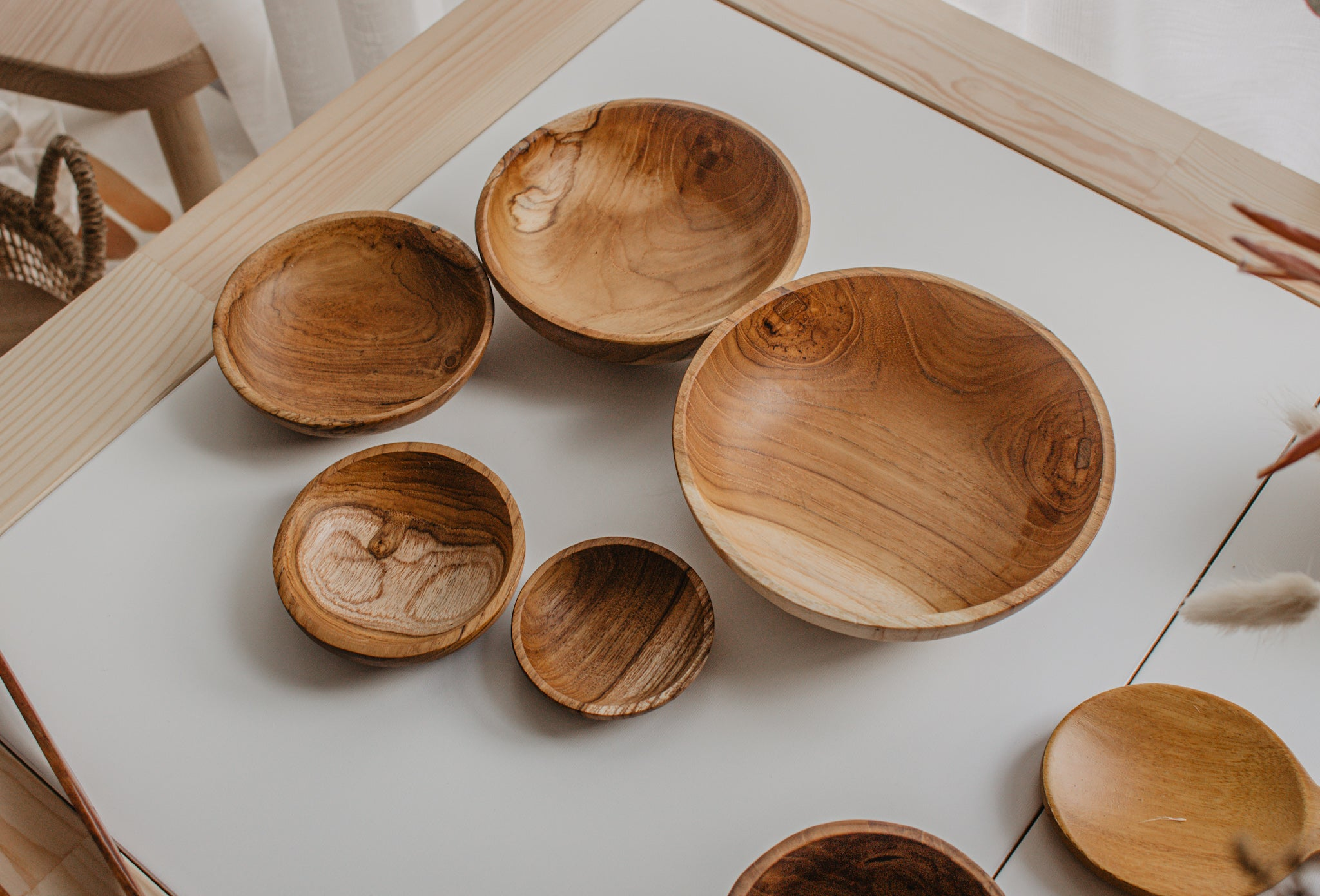 Teak Stacking Bowls