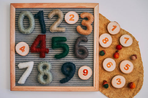 Natural Felt Numbers