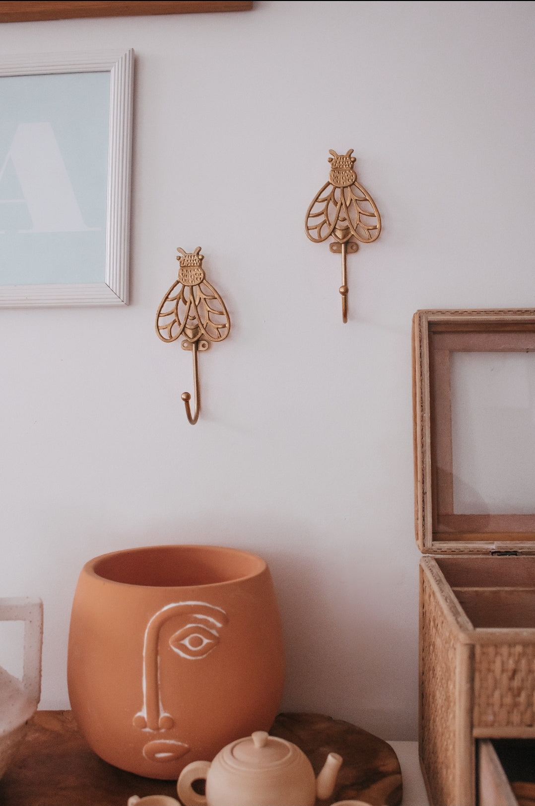 Brass Bee Wall Hook