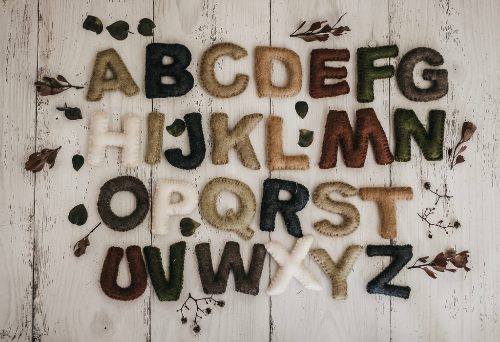 Natural Felt Alphabet (Uppercase)