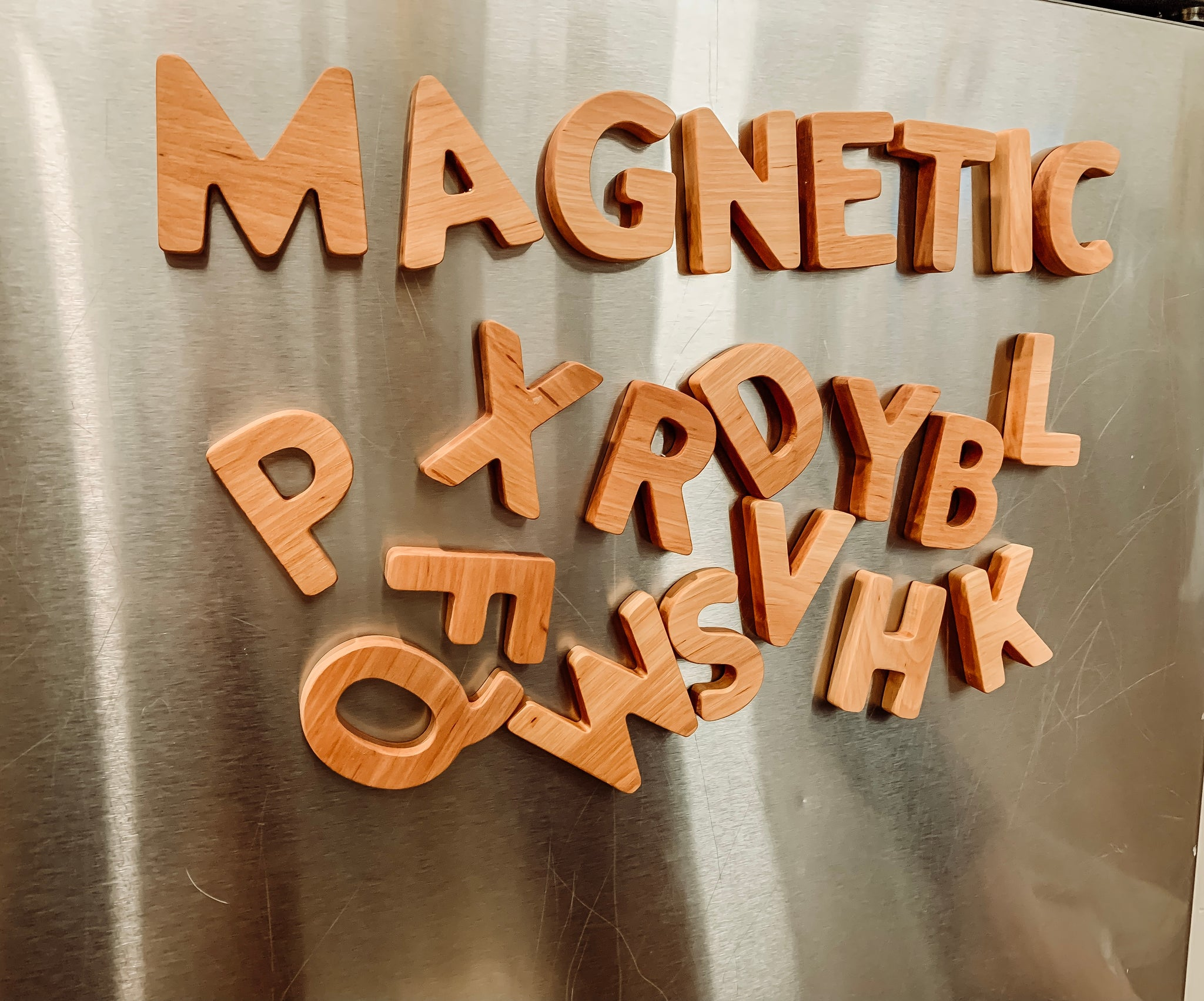 Wooden MAGNETIC Alphabet
