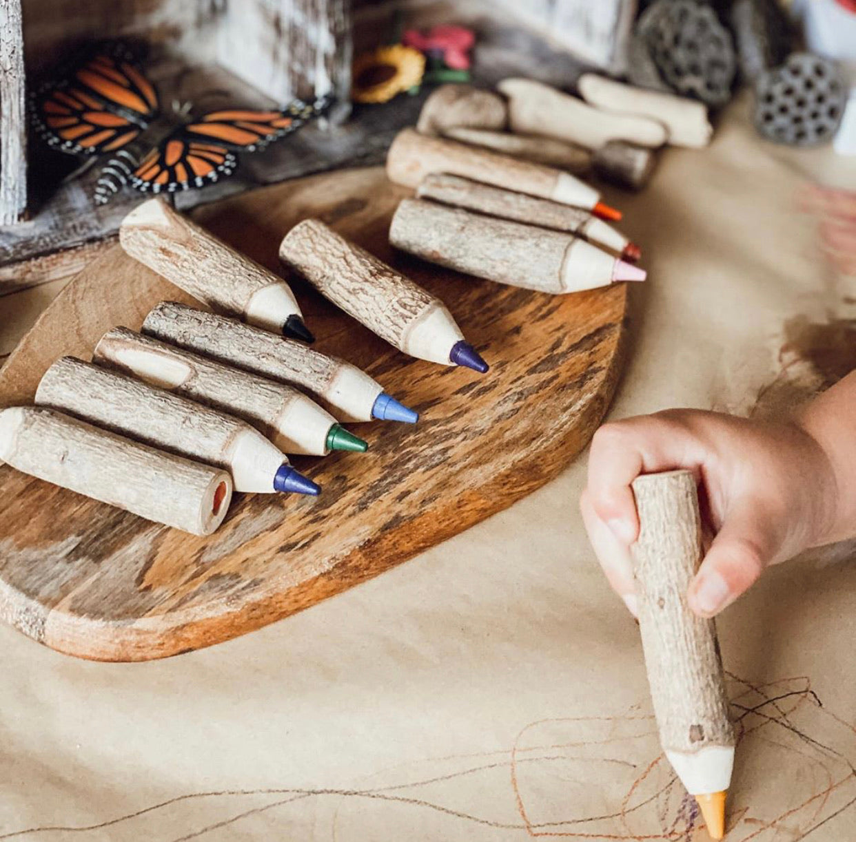 Wooden Crayons (10)
